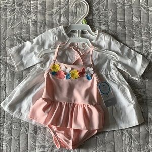 Carters NWT Swimsuit And Matching Coverup